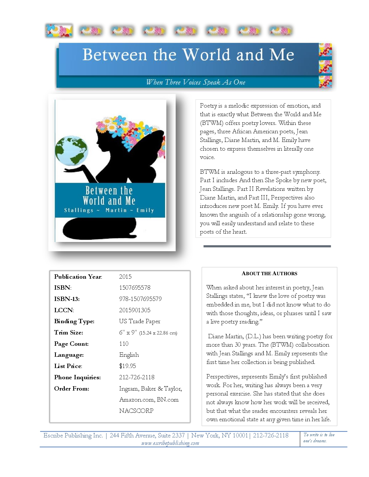 BETWEEN THE WORLD AND ME SELL SHEET-1